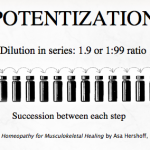 potentization of homeopathic remedies