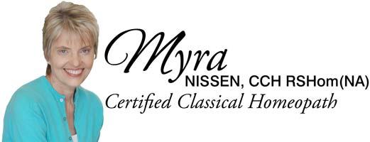 Myra Nissen, Certified Homeopath
